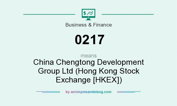 What does 0217 mean? It stands for China Chengtong Development Group Ltd (Hong Kong Stock Exchange [HKEX])