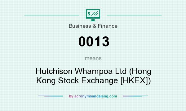 What does 0013 mean? It stands for Hutchison Whampoa Ltd (Hong Kong Stock Exchange [HKEX])