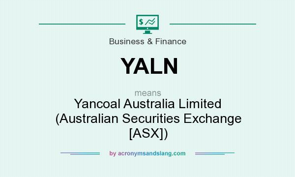 What does YALN mean? It stands for Yancoal Australia Limited (Australian Securities Exchange [ASX])
