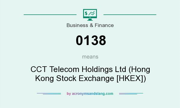 What does 0138 mean? It stands for CCT Telecom Holdings Ltd (Hong Kong Stock Exchange [HKEX])