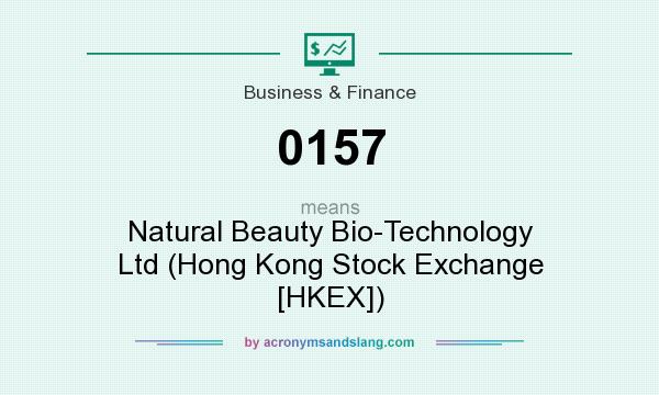 What does 0157 mean? It stands for Natural Beauty Bio-Technology Ltd (Hong Kong Stock Exchange [HKEX])