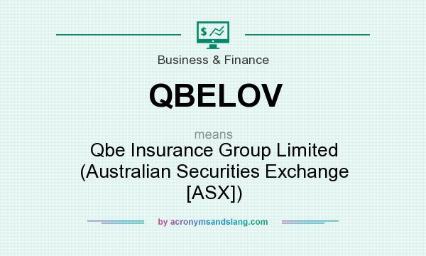 What does QBELOV mean? It stands for Qbe Insurance Group Limited (Australian Securities Exchange [ASX])