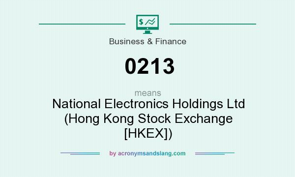 What does 0213 mean? It stands for National Electronics Holdings Ltd (Hong Kong Stock Exchange [HKEX])