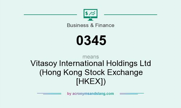 What does 0345 mean? It stands for Vitasoy International Holdings Ltd (Hong Kong Stock Exchange [HKEX])