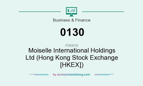 What does 0130 mean? It stands for Moiselle International Holdings Ltd (Hong Kong Stock Exchange [HKEX])