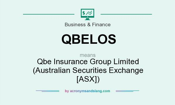 What does QBELOS mean? It stands for Qbe Insurance Group Limited (Australian Securities Exchange [ASX])