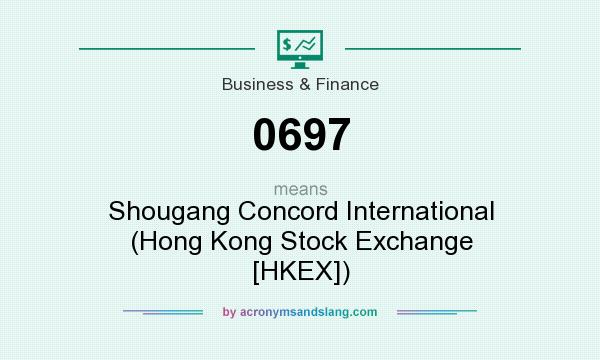 What does 0697 mean? It stands for Shougang Concord International (Hong Kong Stock Exchange [HKEX])