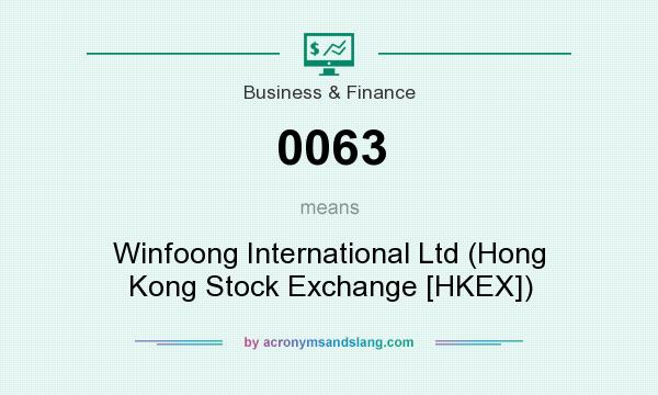 What does 0063 mean? It stands for Winfoong International Ltd (Hong Kong Stock Exchange [HKEX])