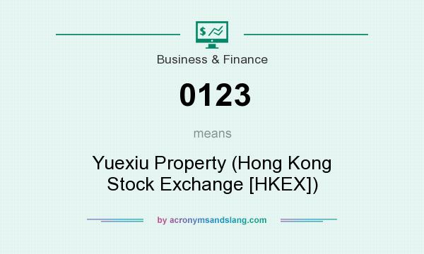 What does 0123 mean? It stands for Yuexiu Property (Hong Kong Stock Exchange [HKEX])
