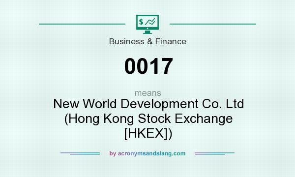 What does 0017 mean? It stands for New World Development Co. Ltd (Hong Kong Stock Exchange [HKEX])
