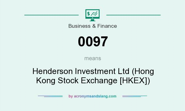 What does 0097 mean? It stands for Henderson Investment Ltd (Hong Kong Stock Exchange [HKEX])