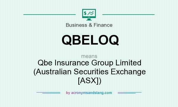 What does QBELOQ mean? It stands for Qbe Insurance Group Limited (Australian Securities Exchange [ASX])