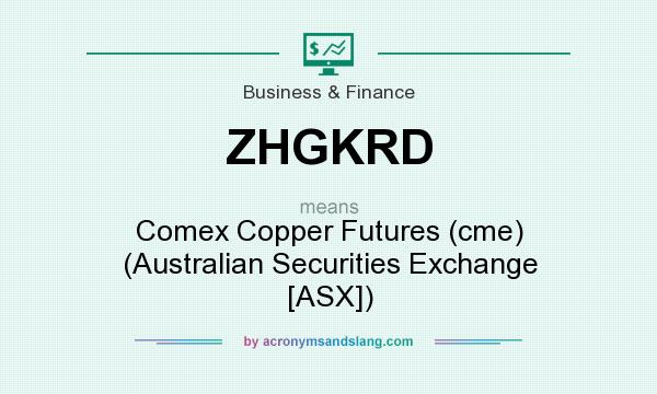 What does ZHGKRD mean? It stands for Comex Copper Futures (cme) (Australian Securities Exchange [ASX])