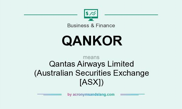 What does QANKOR mean? It stands for Qantas Airways Limited (Australian Securities Exchange [ASX])