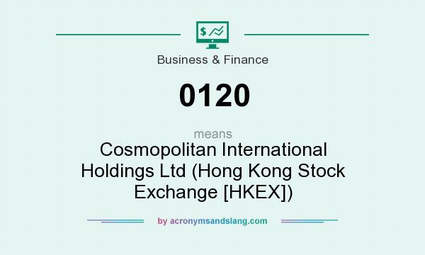 What does 0120 mean? It stands for Cosmopolitan International Holdings Ltd (Hong Kong Stock Exchange [HKEX])