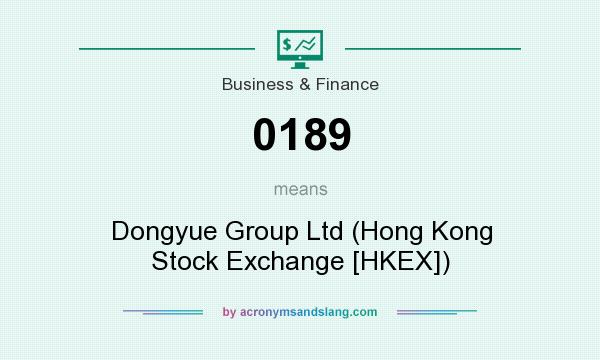 What does 0189 mean? It stands for Dongyue Group Ltd (Hong Kong Stock Exchange [HKEX])