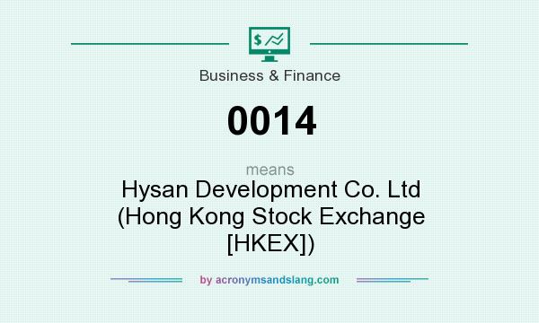 What does 0014 mean? It stands for Hysan Development Co. Ltd (Hong Kong Stock Exchange [HKEX])