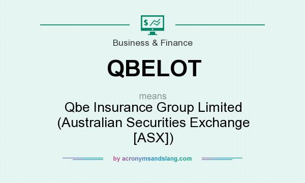 What does QBELOT mean? It stands for Qbe Insurance Group Limited (Australian Securities Exchange [ASX])