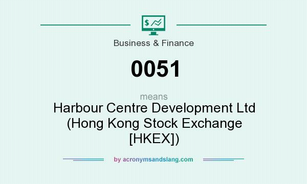 What does 0051 mean? It stands for Harbour Centre Development Ltd (Hong Kong Stock Exchange [HKEX])