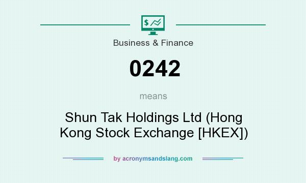 What does 0242 mean? It stands for Shun Tak Holdings Ltd (Hong Kong Stock Exchange [HKEX])