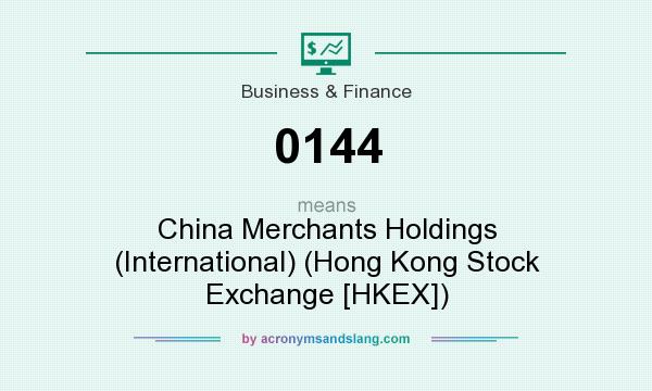 What does 0144 mean? It stands for China Merchants Holdings (International) (Hong Kong Stock Exchange [HKEX])