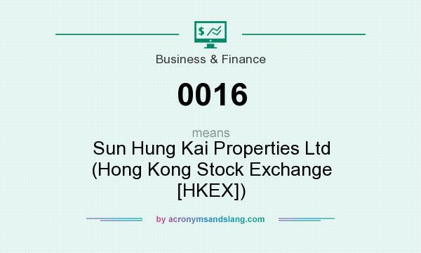 What does 0016 mean? It stands for Sun Hung Kai Properties Ltd (Hong Kong Stock Exchange [HKEX])