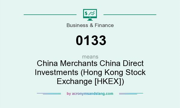 What does 0133 mean? It stands for China Merchants China Direct Investments (Hong Kong Stock Exchange [HKEX])