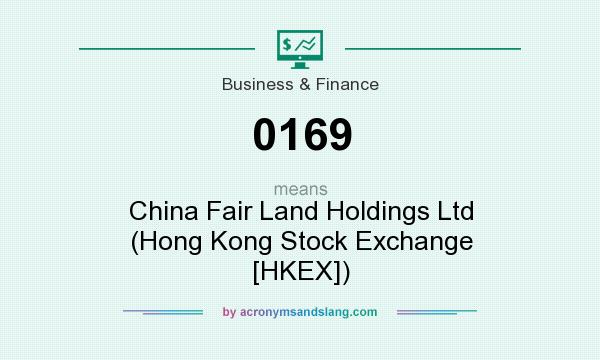 What does 0169 mean? It stands for China Fair Land Holdings Ltd (Hong Kong Stock Exchange [HKEX])