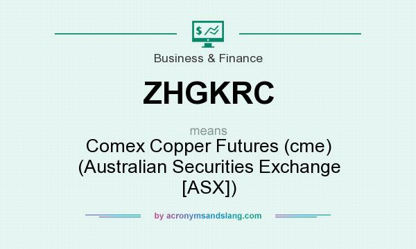What does ZHGKRC mean? It stands for Comex Copper Futures (cme) (Australian Securities Exchange [ASX])
