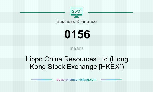 What does 0156 mean? It stands for Lippo China Resources Ltd (Hong Kong Stock Exchange [HKEX])