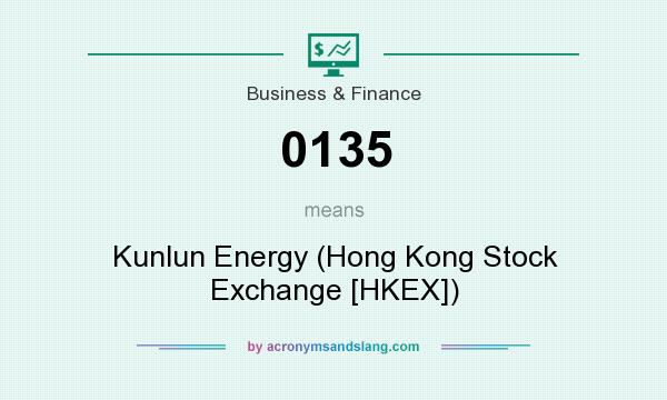 What does 0135 mean? It stands for Kunlun Energy (Hong Kong Stock Exchange [HKEX])