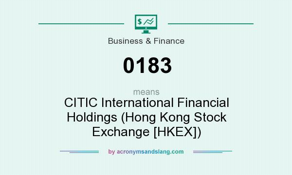 What does 0183 mean? It stands for CITIC International Financial Holdings (Hong Kong Stock Exchange [HKEX])