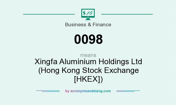 What does 0098 mean? It stands for Xingfa Aluminium Holdings Ltd (Hong Kong Stock Exchange [HKEX])