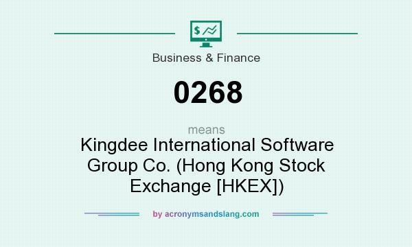 What does 0268 mean? It stands for Kingdee International Software Group Co. (Hong Kong Stock Exchange [HKEX])