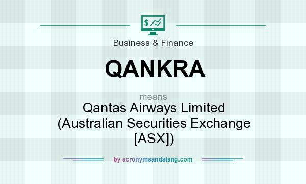 What does QANKRA mean? It stands for Qantas Airways Limited (Australian Securities Exchange [ASX])