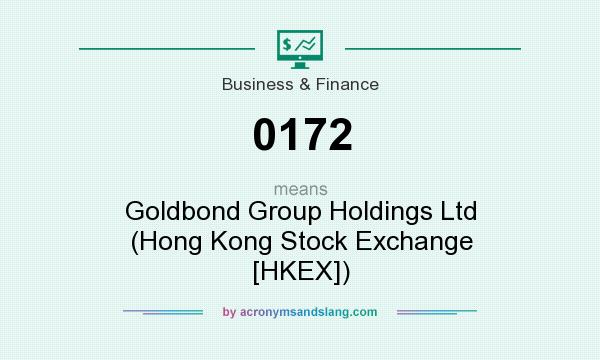 What does 0172 mean? It stands for Goldbond Group Holdings Ltd (Hong Kong Stock Exchange [HKEX])