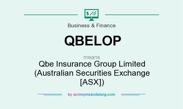 What does QBELOP mean? It stands for Qbe Insurance Group Limited (Australian Securities Exchange [ASX])