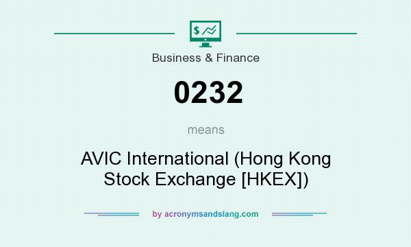 What does 0232 mean? It stands for AVIC International (Hong Kong Stock Exchange [HKEX])