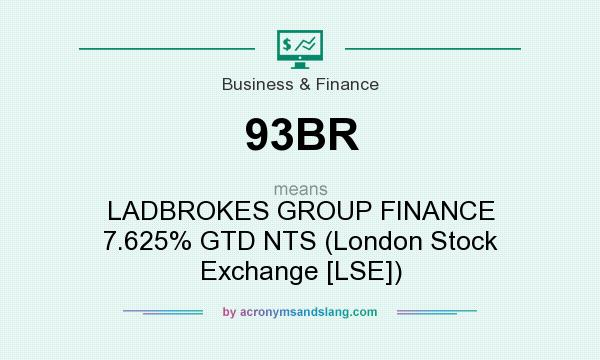 What does 93BR mean? It stands for LADBROKES GROUP FINANCE 7.625% GTD NTS (London Stock Exchange [LSE])