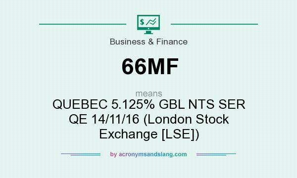 What does 66MF mean? It stands for QUEBEC 5.125% GBL NTS SER QE 14/11/16 (London Stock Exchange [LSE])