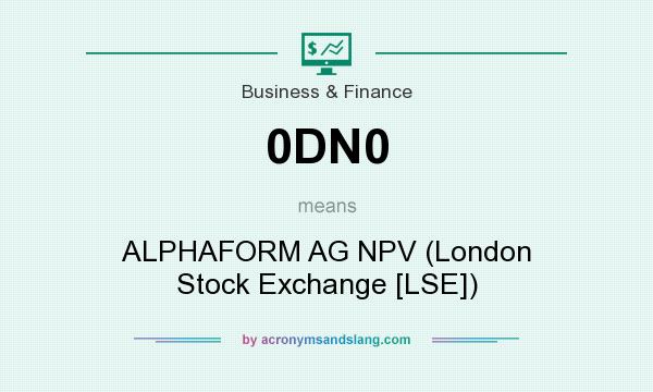 What does 0DN0 mean? It stands for ALPHAFORM AG NPV (London Stock Exchange [LSE])