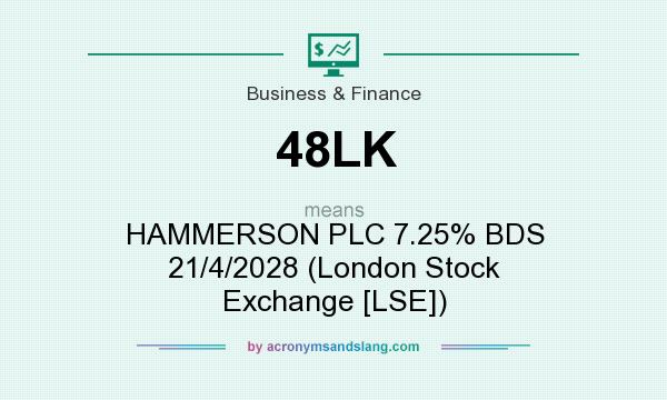 What does 48LK mean? It stands for HAMMERSON PLC 7.25% BDS 21/4/2028 (London Stock Exchange [LSE])