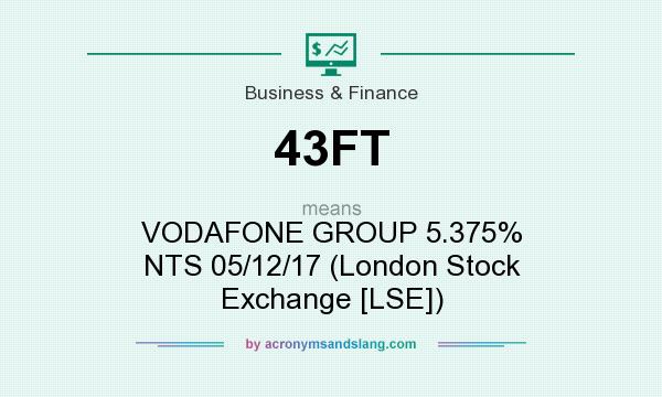 What does 43FT mean? It stands for VODAFONE GROUP 5.375% NTS 05/12/17 (London Stock Exchange [LSE])