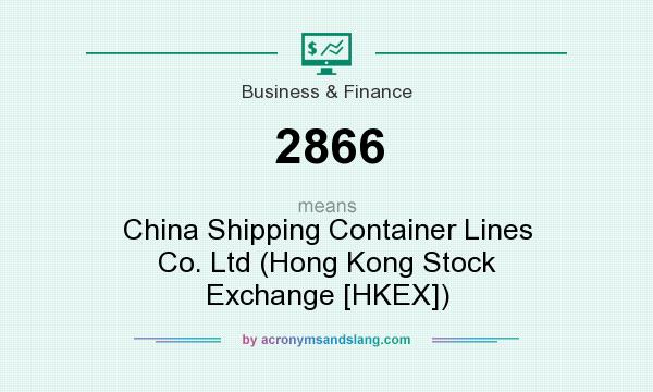 What does 2866 mean? It stands for China Shipping Container Lines Co. Ltd (Hong Kong Stock Exchange [HKEX])