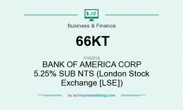 What does 66KT mean? It stands for BANK OF AMERICA CORP 5.25% SUB NTS (London Stock Exchange [LSE])