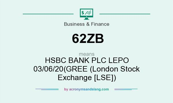 What does 62ZB mean? It stands for HSBC BANK PLC LEPO 03/06/20(GREE (London Stock Exchange [LSE])