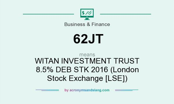 What does 62JT mean? It stands for WITAN INVESTMENT TRUST 8.5% DEB STK 2016 (London Stock Exchange [LSE])
