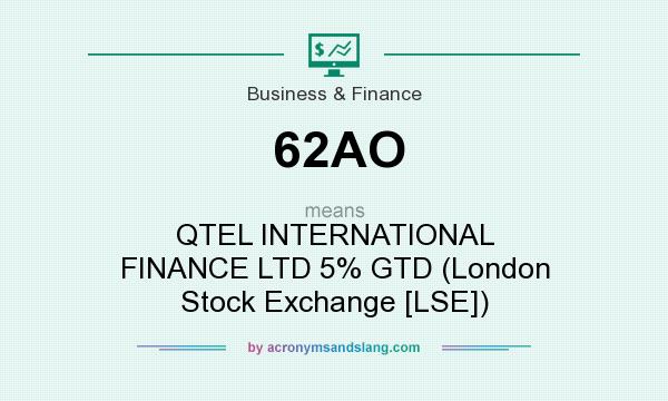 What does 62AO mean? It stands for QTEL INTERNATIONAL FINANCE LTD 5% GTD (London Stock Exchange [LSE])