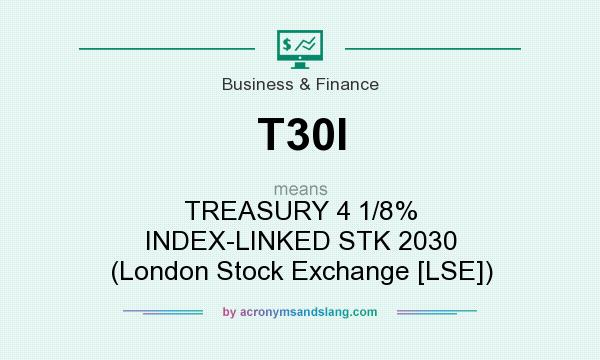 What does T30I mean? It stands for TREASURY 4 1/8% INDEX-LINKED STK 2030 (London Stock Exchange [LSE])