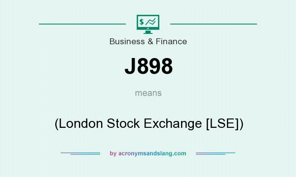 What does J898 mean? It stands for (London Stock Exchange [LSE])
